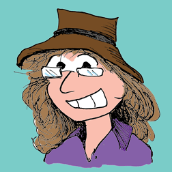 Terri in cartoon form