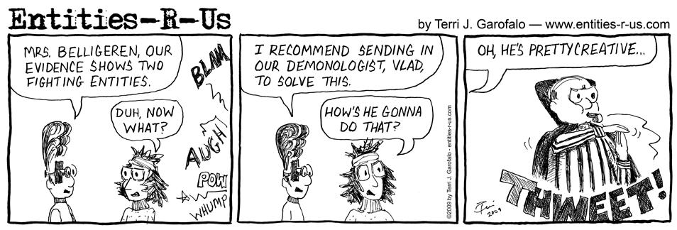 Strip fight comic