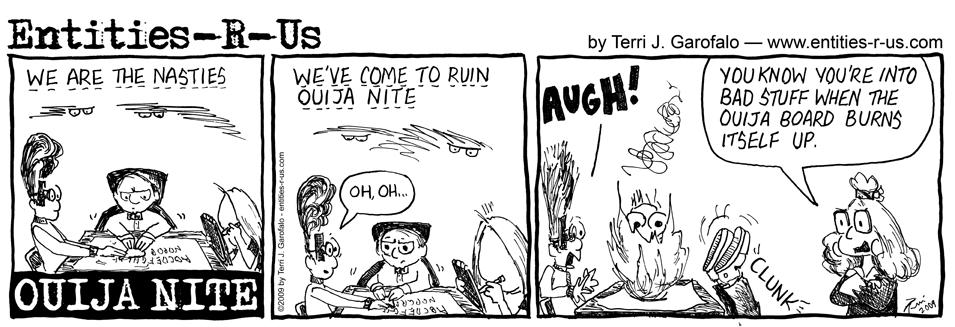 Ouija Board Burning