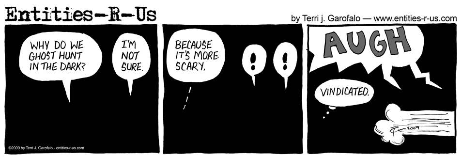 Ghost Hunt In Dark