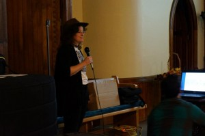 "Terri J. Garofalo lectures for the ""Haunted Rails - Ghost Train"" event."