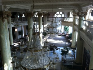 Hotel Utica lobby.