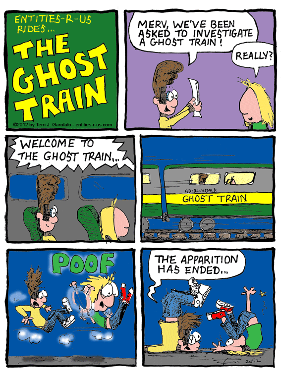 Of course this is based on my excursion on the Haunted Rails Ghost Train with Shadow Chasers and 98.7 FM in Utica.