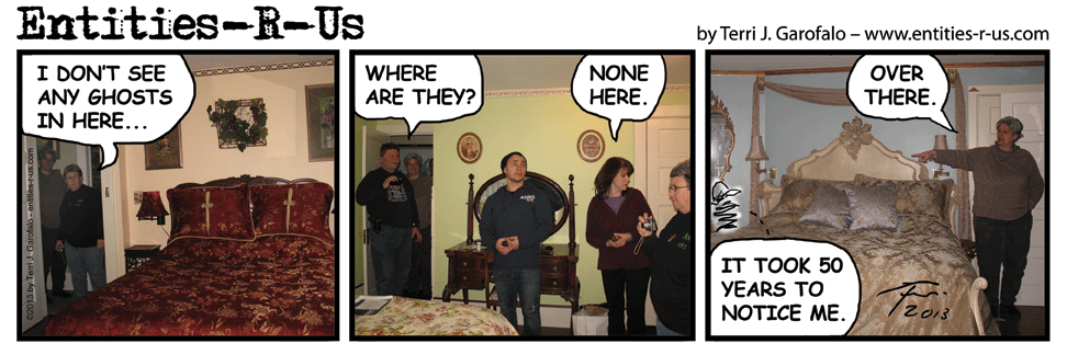 The room at the end of this comic is one where we had some activity on our devices. The others were quiet.