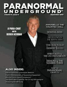 Paranormal Underground Cover - September