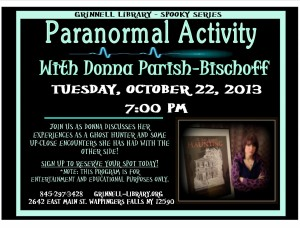 Spooky Series at Grinnell Library - Paranormal Activity with Donna Parish-Bischoff