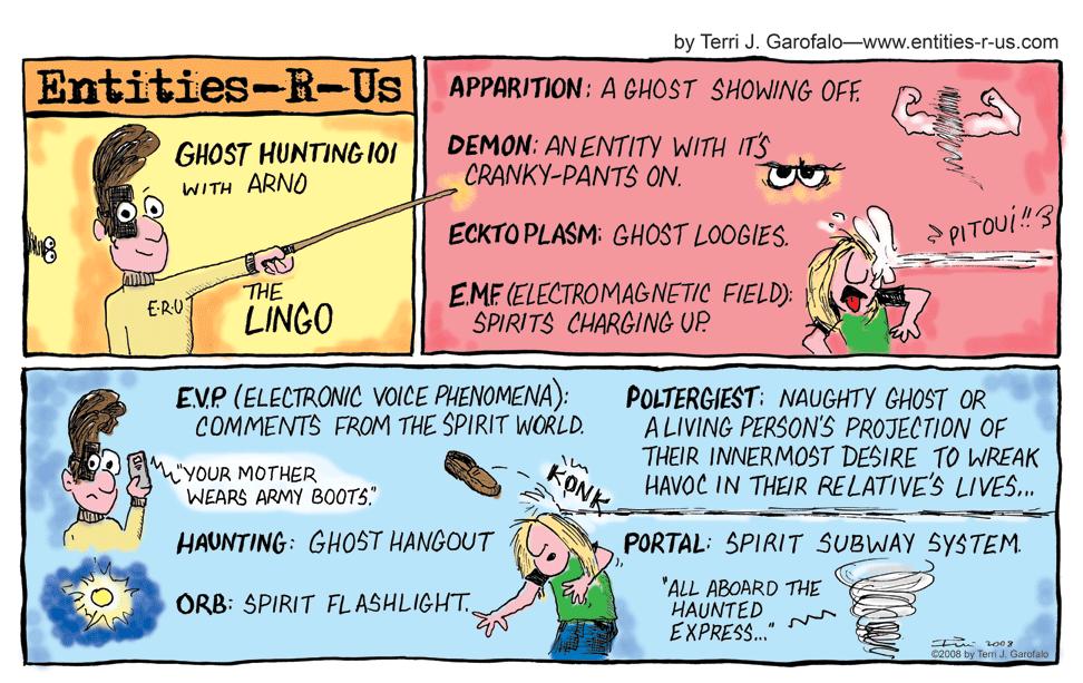 Entities-R-Us Ghost Hunter Comic - Ghost Hunting Terminology
